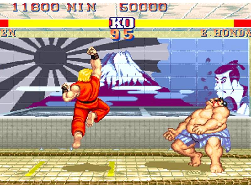 A Street Fighter 2 screen.