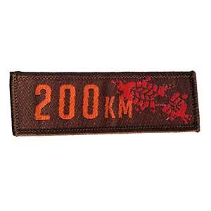 200 km mærket (80 timer) spejdermærke