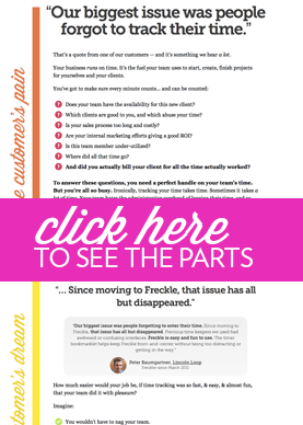 Freckle landing page thubnail