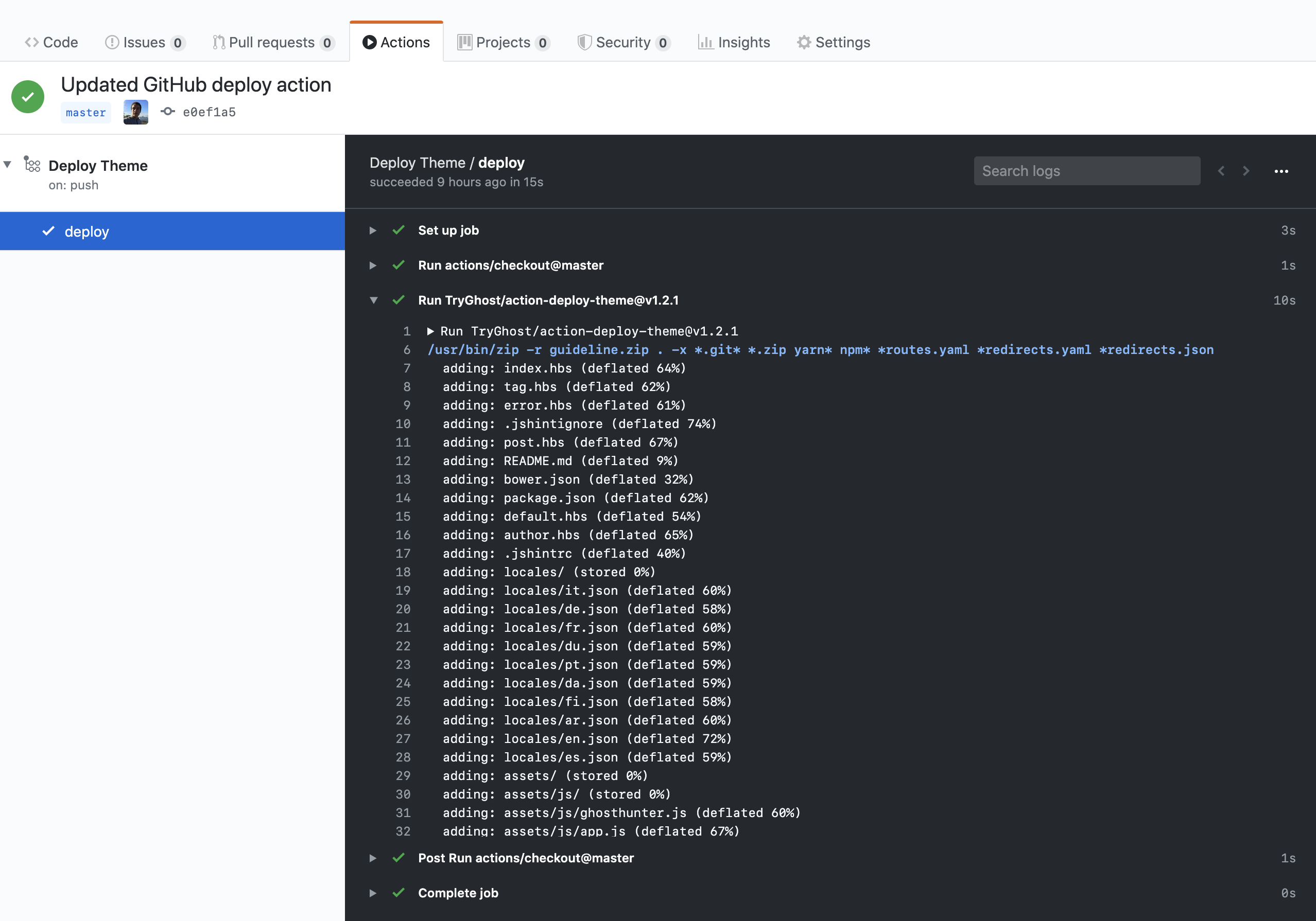GitHub Repository Deployment Action