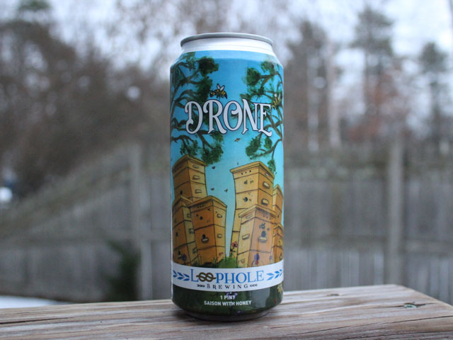 Drone, a Saison brewed by Loophole Brewing