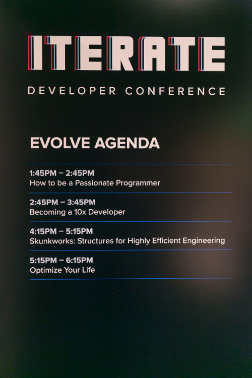 Iterate Evolve Agenda