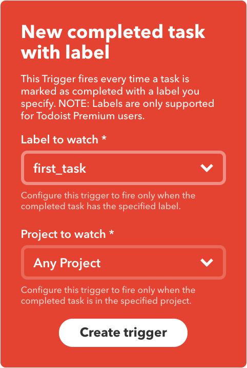 Trigger Based on Task Tag