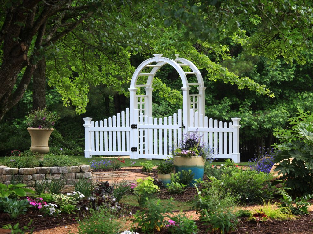 Cottage Picket Wings installed on the Nantucket Arbor