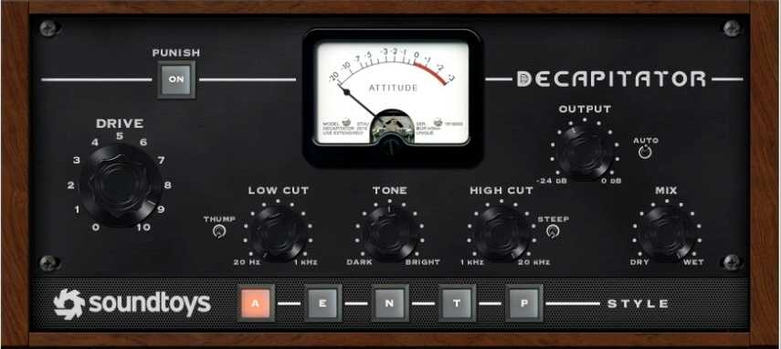 Soundtoy's decapitator distortion plugin