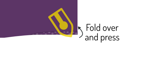 Fold over and press
