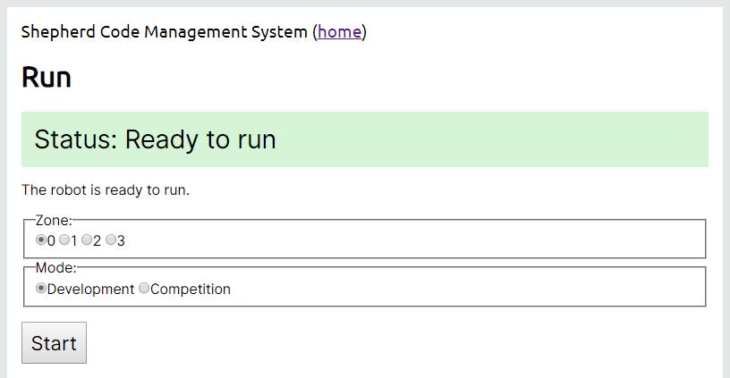 Run Interface