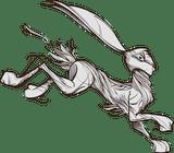 Leaping rabbit