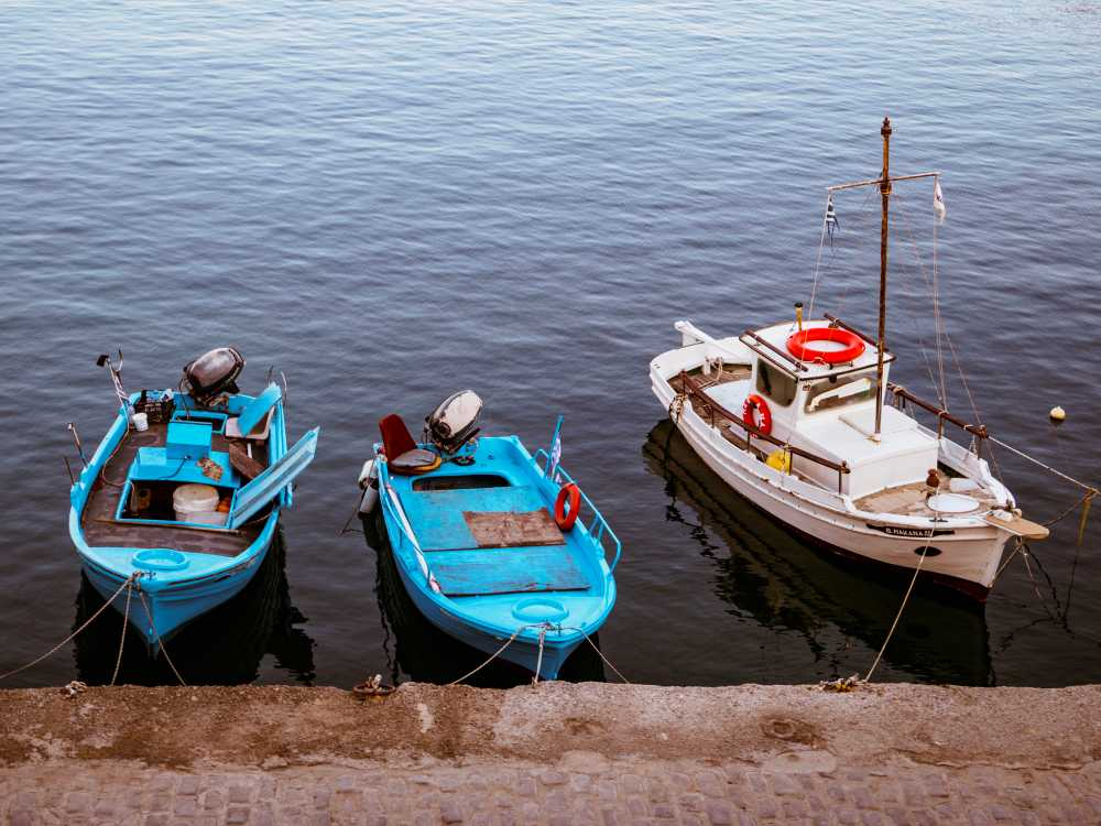 Fishing boats in Chania harbor