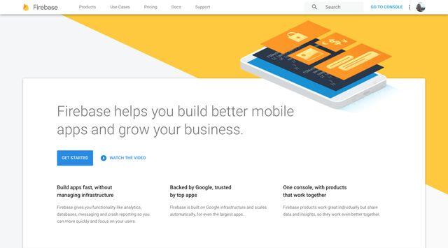 firebase hosting homepage