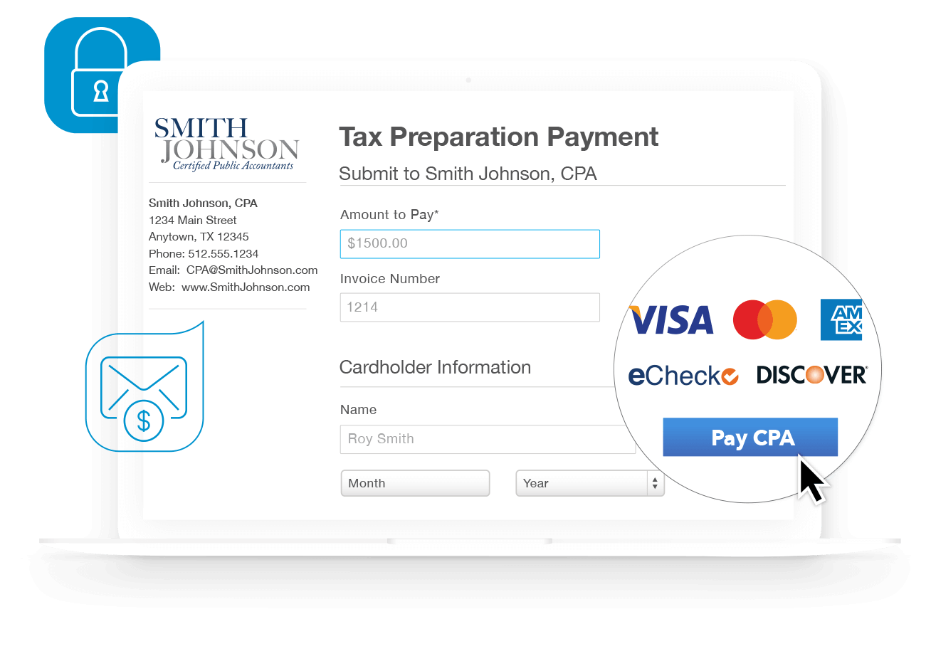 Certified                   Public Accountant Tax                   Preparation Payment Screen