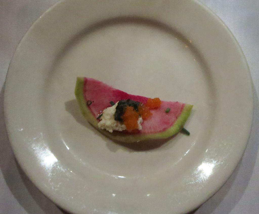 watermelon radish appetizer