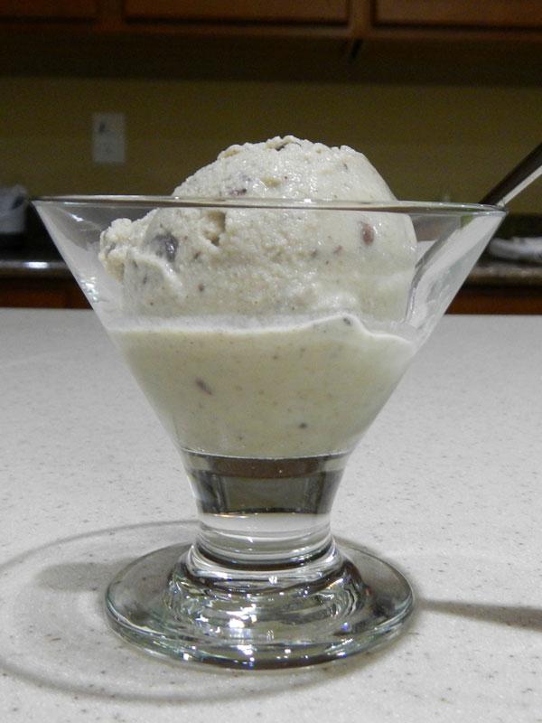 Finished Vegan Mint Chip Icecream
