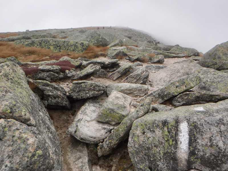 Mt. Katahdin summit almost in view