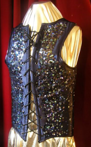 Fully sequinned corset