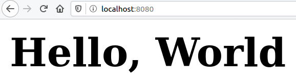 Display HTML formatted hello world in the browser