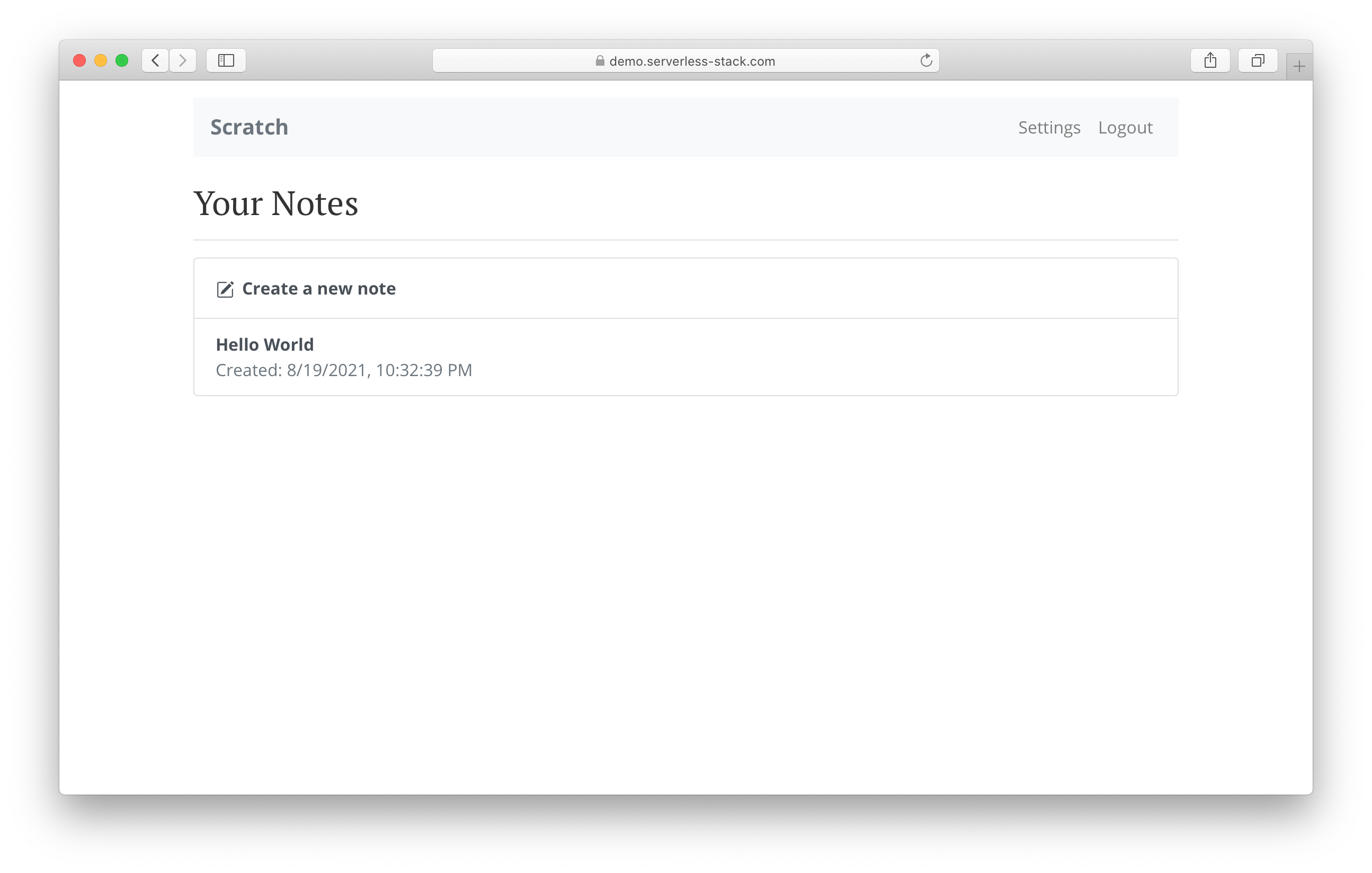 Create notes in production