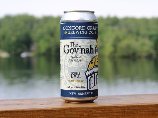 The Gov'nah, a Double IPA brewed by Concord Craft Brewing Company