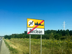 So … don't be clean, I guess?  Beclean, Romania, 2017