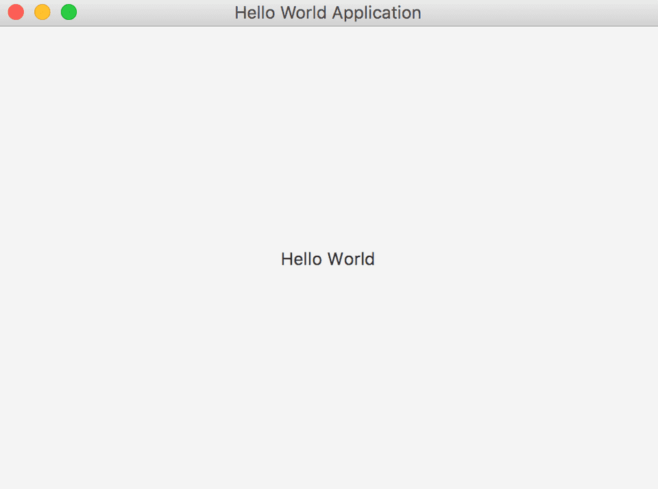 JavaFX Hello World Application Example