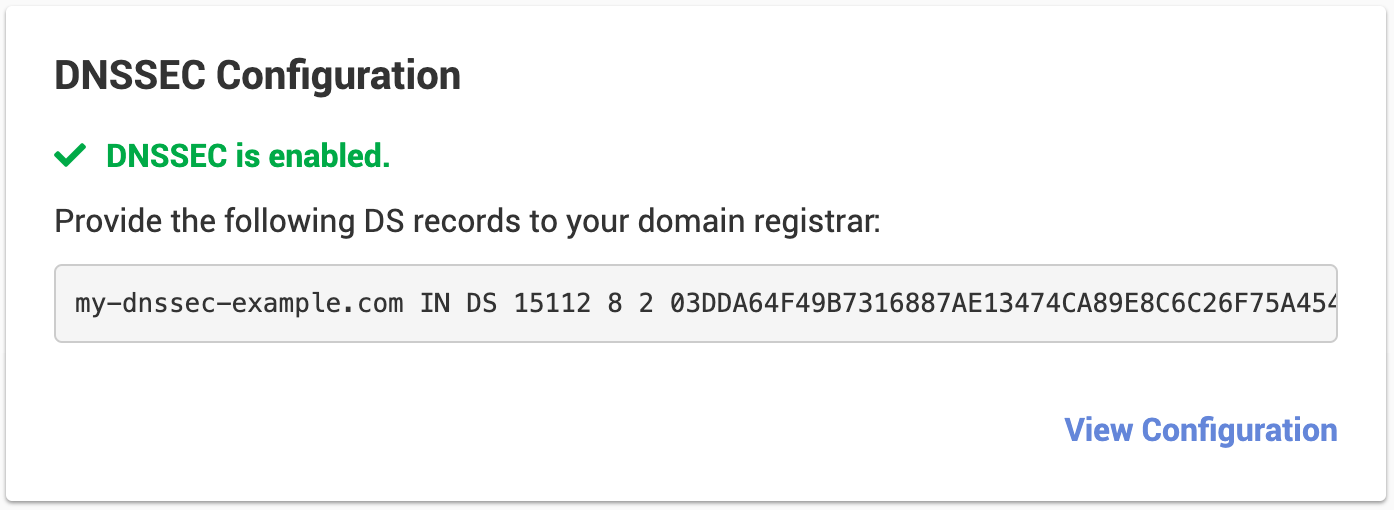 DNSSEC DS record
