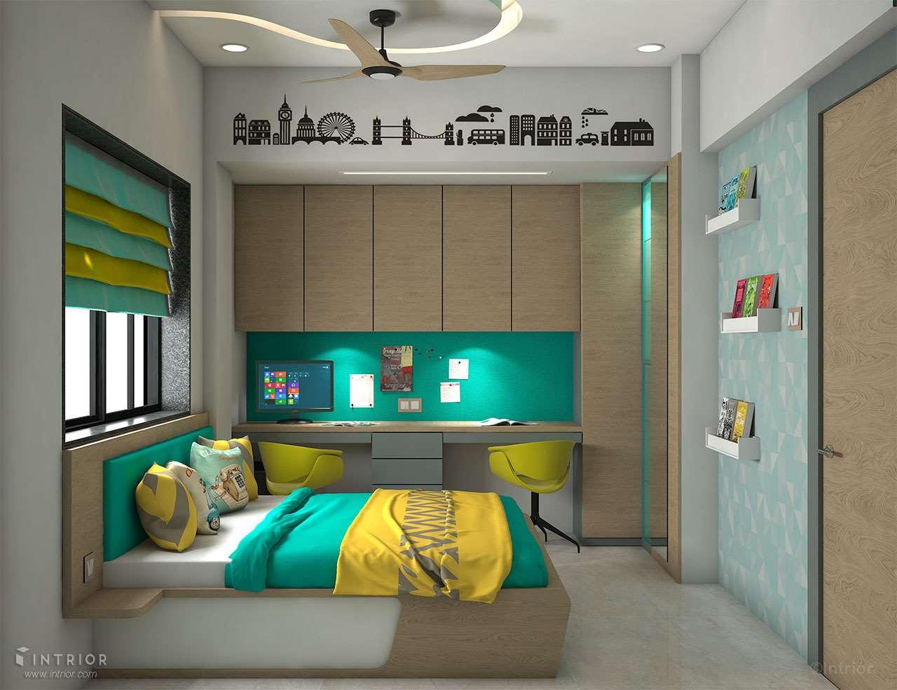 Children Bedroom - Bed & Study Table