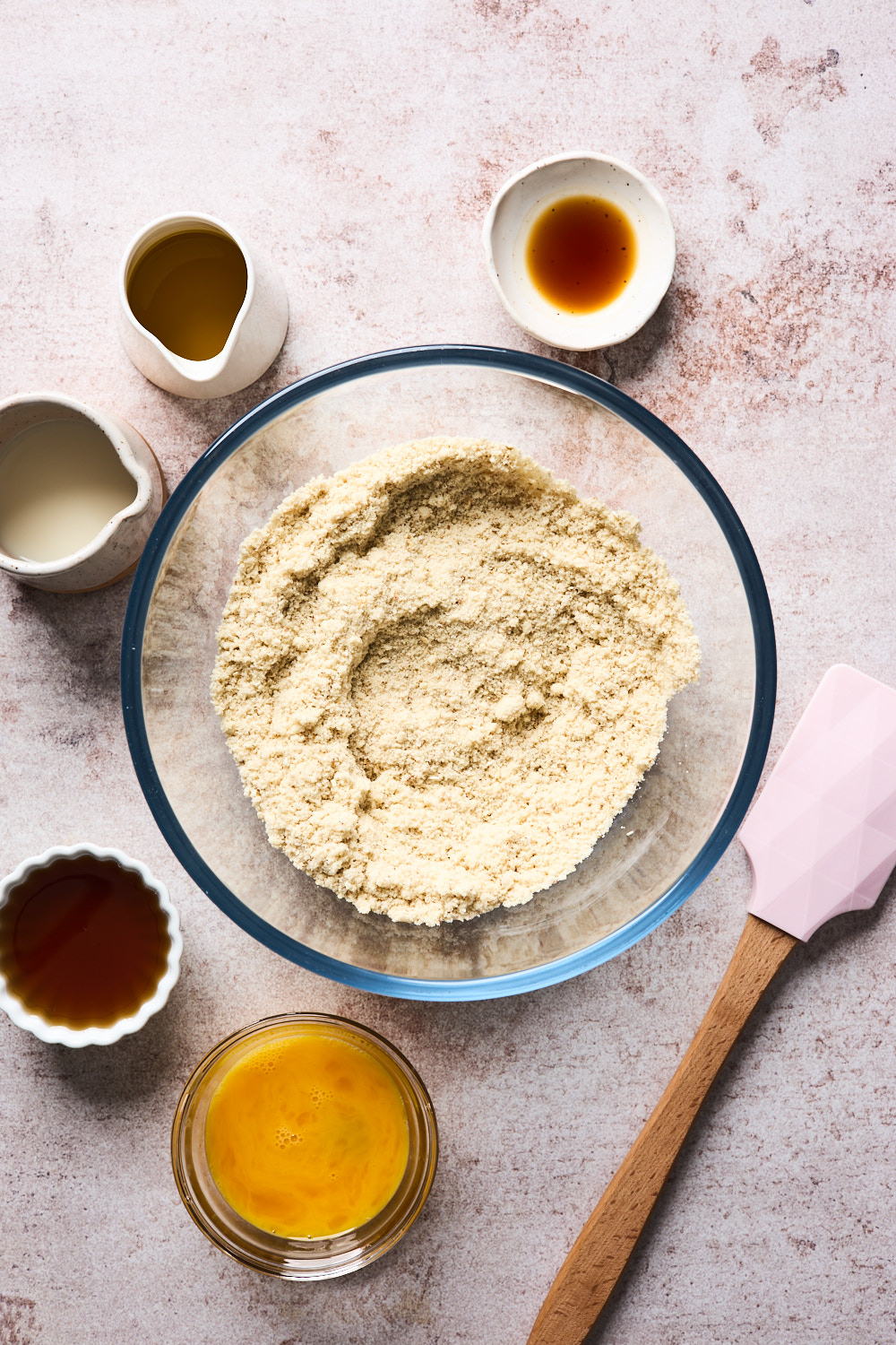 Ingredients for Almond Flour Muffins in a bowl