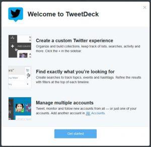 Tweetdeck welcome screen