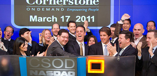 Cornerstone founders ringing the opening bell
