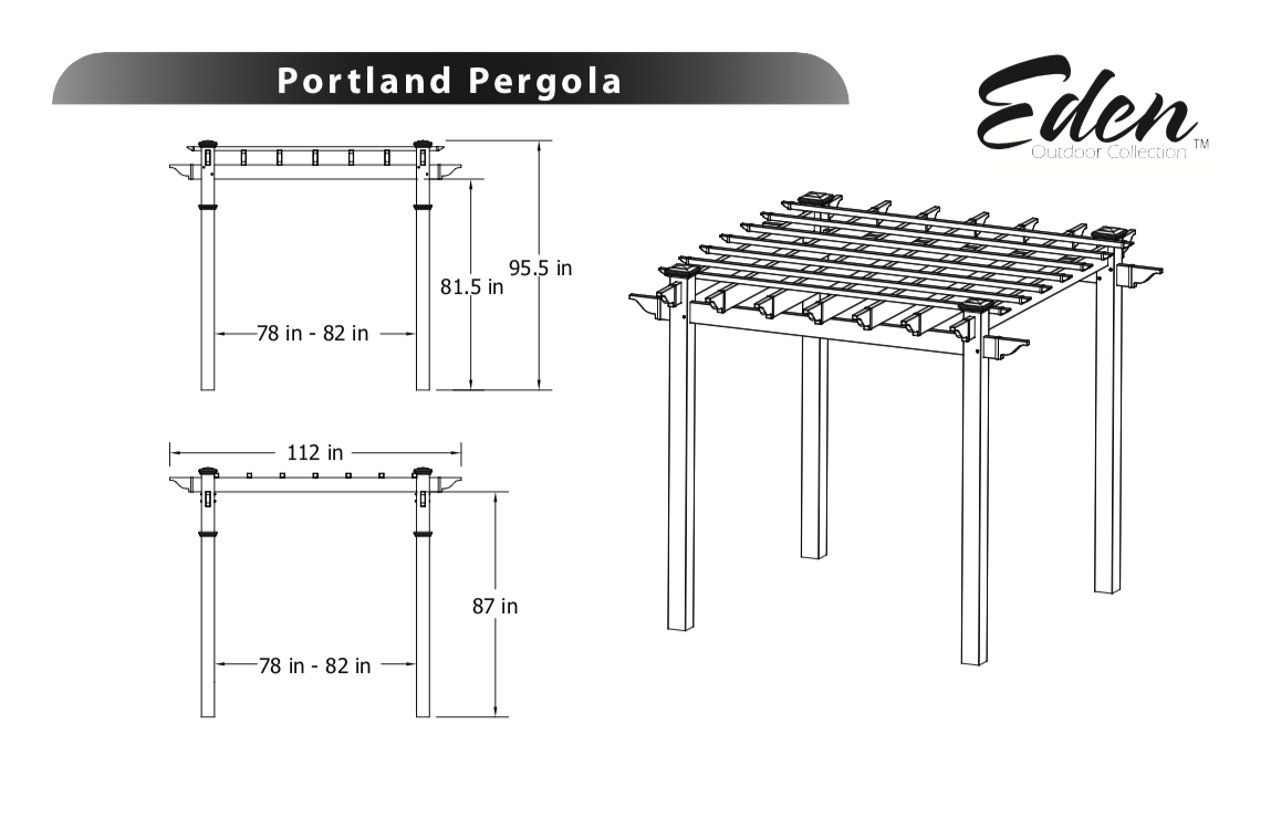 Portland Pergola Specifications