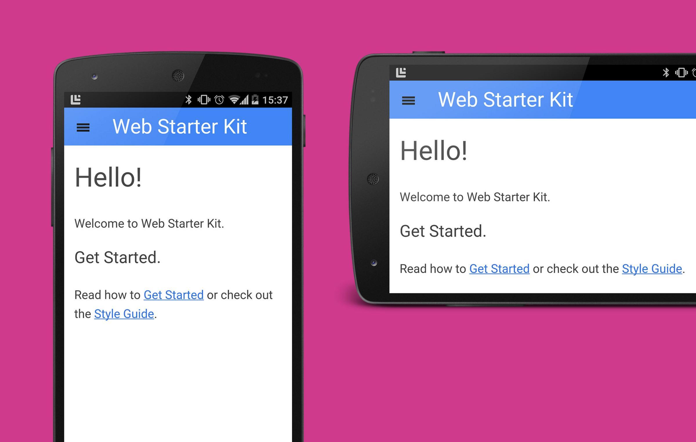 "Key art for blog post ""Building Mobile Cordova Apps with Web Starter Kit """