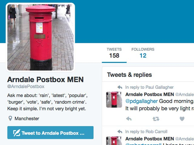 Image showing the MEN chatbot on Twitter