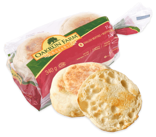 english muffins with packaging