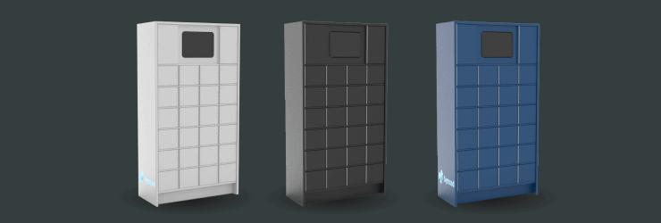 Le casier intelligent Sir Steward est disponible en blanc, noir et bleu.