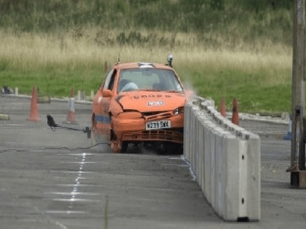 Crash-Tested Concrete Barrier