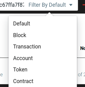 Filter Search by Contract