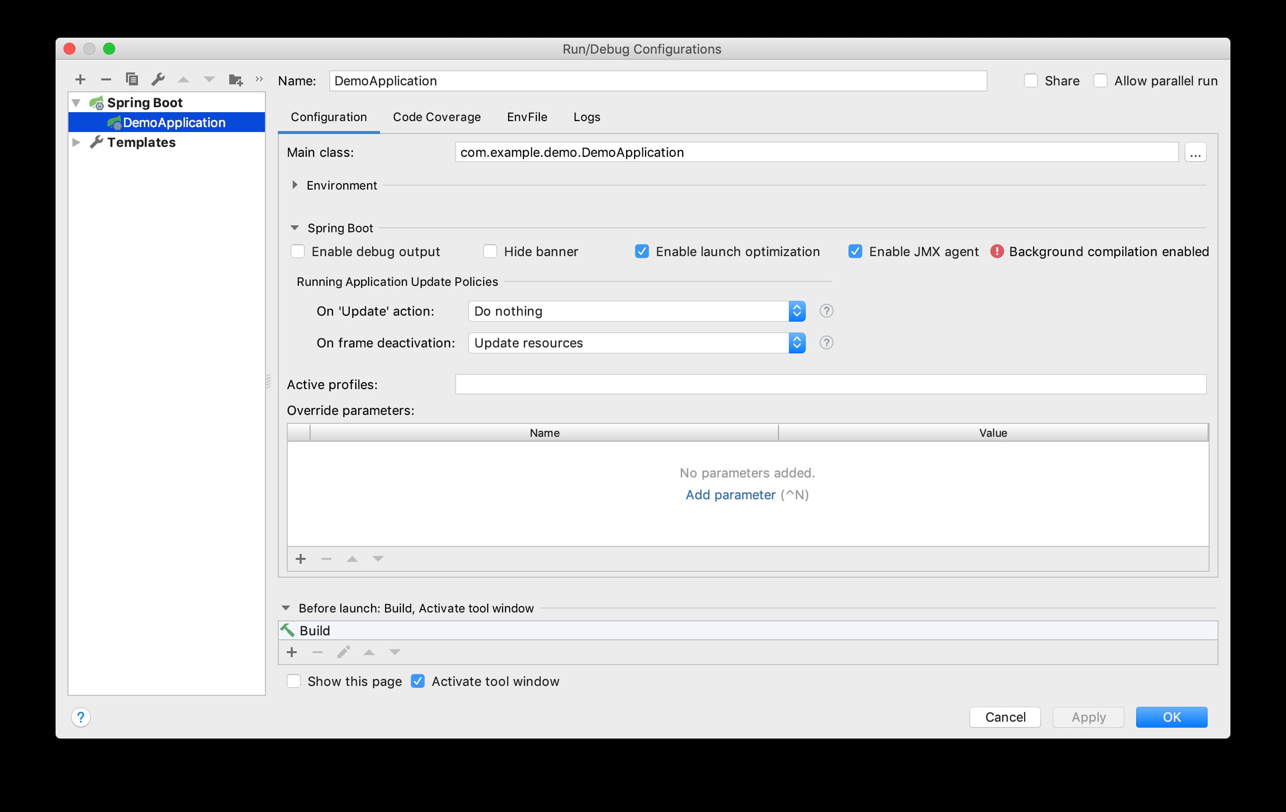 Update resources in IntelliJ IDEA