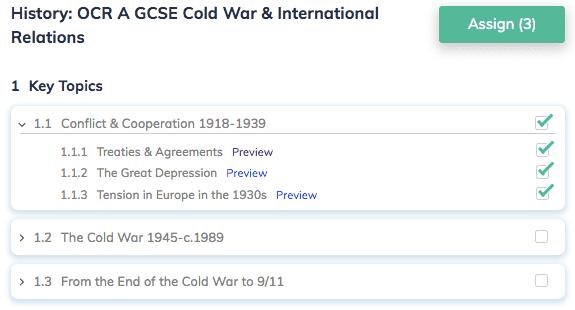 History: OCR A GCSE Cold War & International Relations