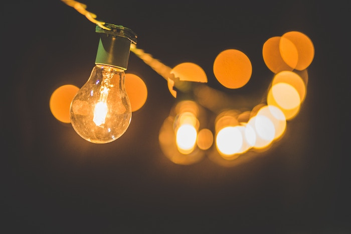 image of hanging outdoor lights