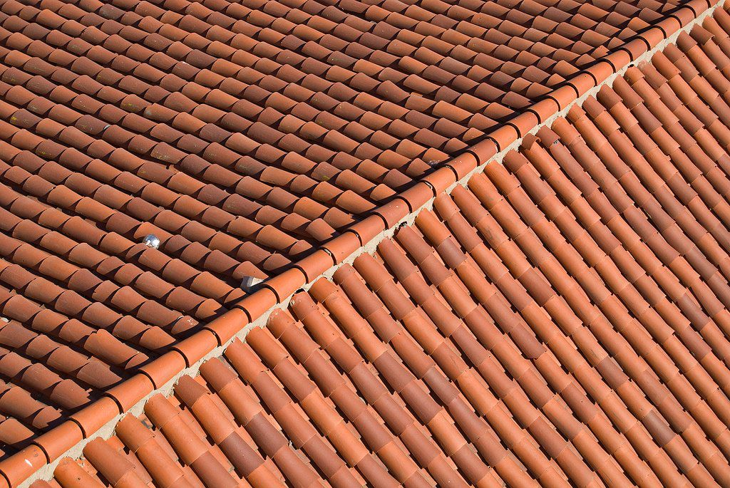 beautiful red tile shingle roof