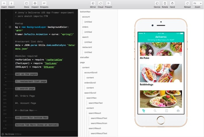 Rebuilding a version of our restaurant list with live data entirely in Framer.