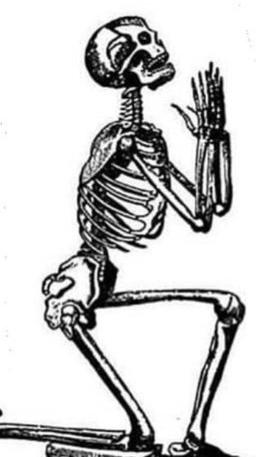 Skeleton Praying Sketch
