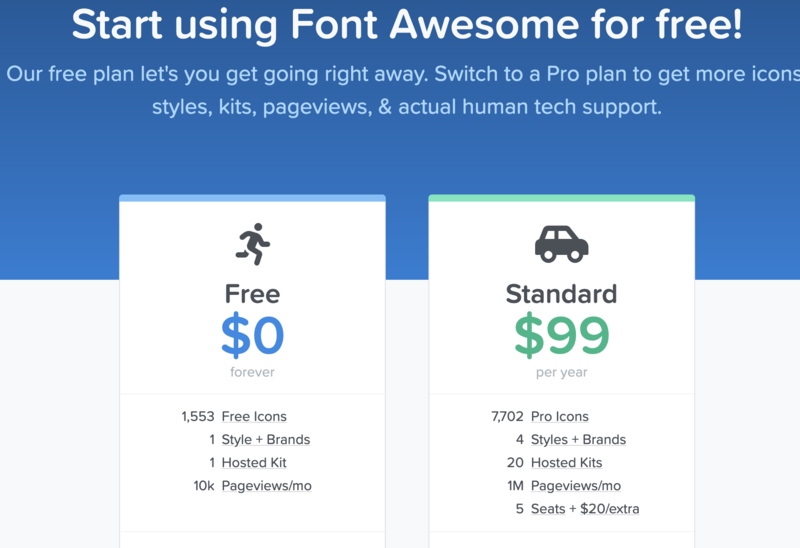 fontawesome sales page