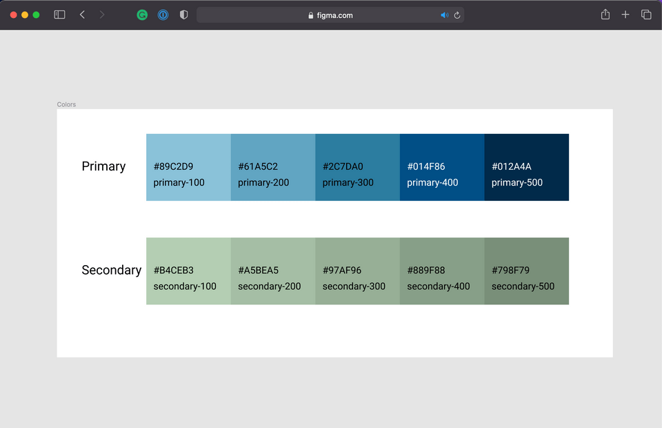 Welcome, Developer - Figma Secondary Colors