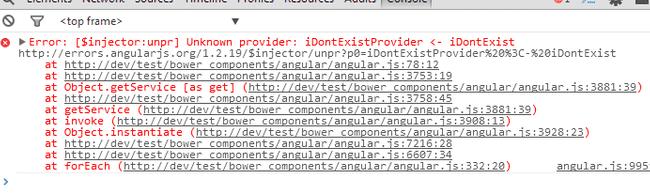 angular unminified error