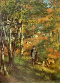 One of Renoir's paintings of the Fontainbleau forest.