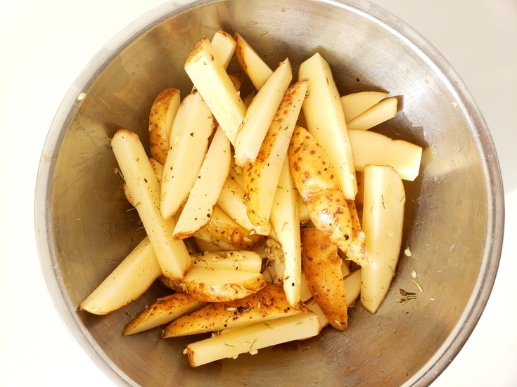 French Fries Spiced with Rosemary and Garlic