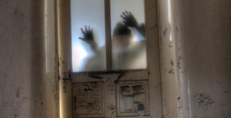 zombies trying to break in door