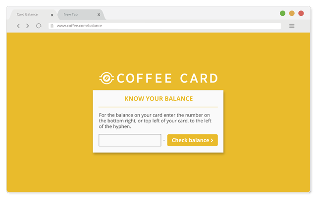 Coffee Card Statement