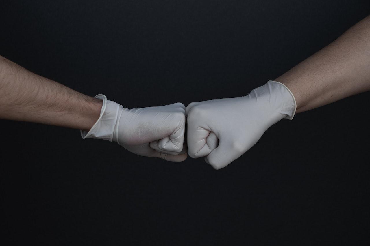 Medical fistbump - Photo by Branimir Balogović, borrowed from Unsplash
